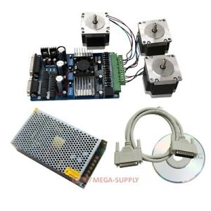 Cnc Kit 3 Axis Tb6560 Stepper Motor Driver Mill Router Nema 23 Motor 24V10A Psu