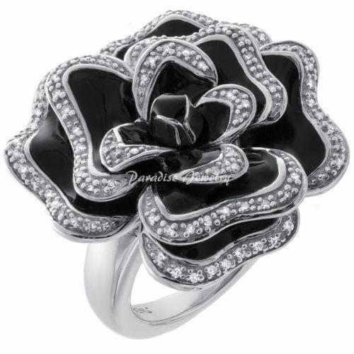 white gold black onyx ring ebay