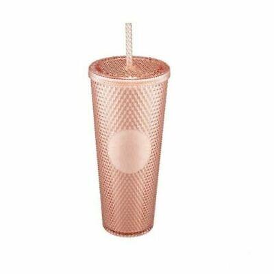 Starbucks Korea Pale Rose Gold Studded Cold Cup Tumbler 710ml + DHL