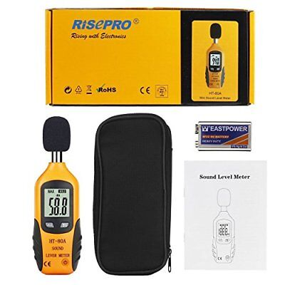 Decibel Meter Risepro Digital Sound Level Meter Audio Noise Measure Device Du...