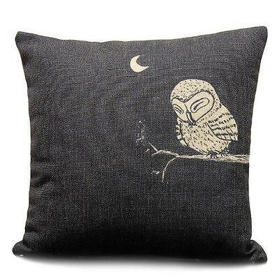 Sunny Outlets Decorative 18 X 18 Inch Linen Cloth Pillow Cover Cushion Case, New