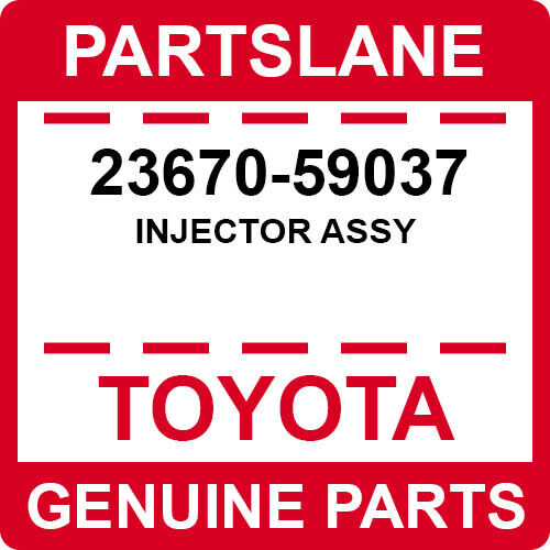 23670-59037 Toyota Oem Genuine Injector Assy