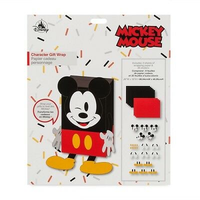 Disney Store Character Gift Wrap Set Mickey Mouse Wrapping Paper Stickers NEW](Mickey Mouse Gift Wrap)