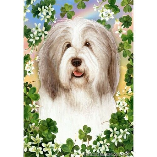 Clover House Flag - Fawn and White Bearded Collie 31483