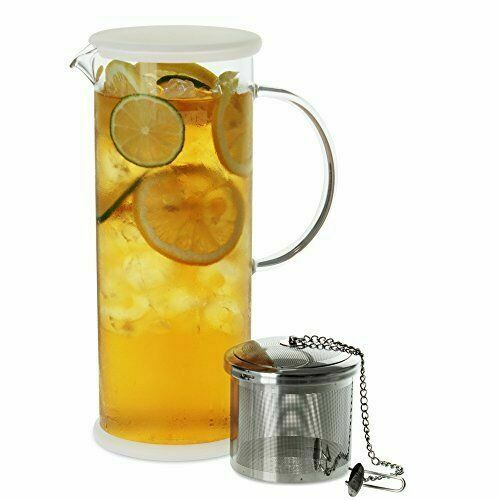 lucent glass iced tea jug with capsule