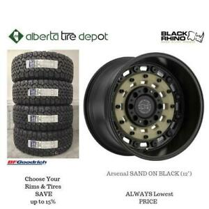 OPEN 7 DAYS LOWEST PRICE Save Up To 10% Black Rhino Arsenal SAND ON BLACK (12) . Alberta Tire Depot.