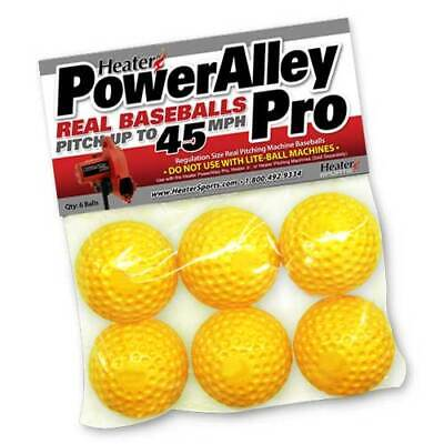 Heater Sports POWERALLEY YELLOW DIMPLEDBALLS 6 PACK