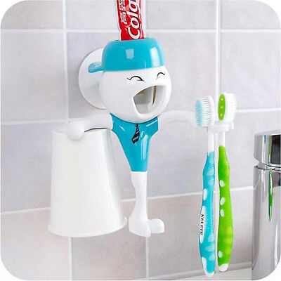 Bathroom Cup Dispensers - Automatic Toothpaste Dispenser Bathroom Toothbrush Holder & Cup Gift For Kids