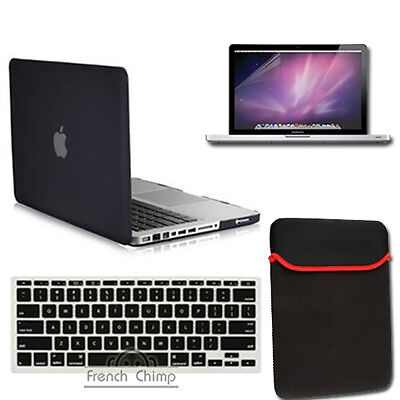 Hard rubberized case keyboard cover sleeve screen guard for macbook pro 13 on Rummage