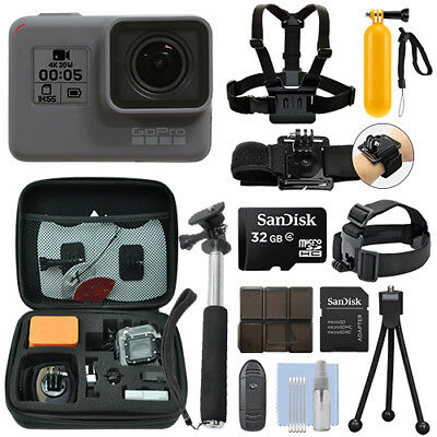 GoPro HERO6 Black Waterproof 4K Camera Camcorder + 32GB Acti