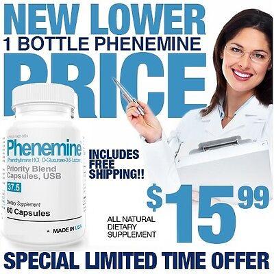 1 Phenemine Adipex 37.5 375 P Caps Best Diet Pills Suppress Appetite Suppressant 9