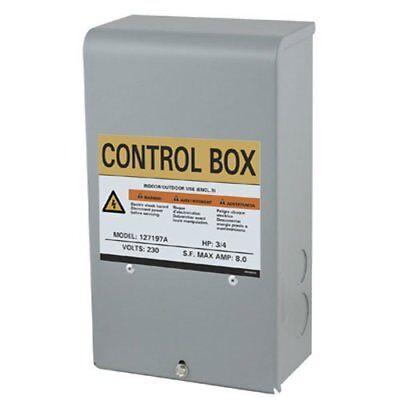 Star Water Pump Motor Control Box 3 Wire Submersible Well 12 Hp 230v 127189
