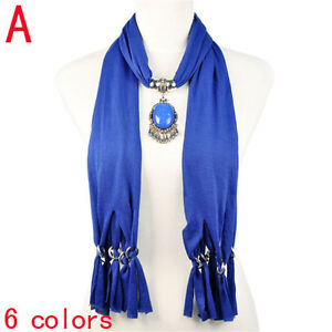 Trendy-Fashion-Dark-Blue-Pendant-Jewellery-Scarf-for-Women-NL-1940A