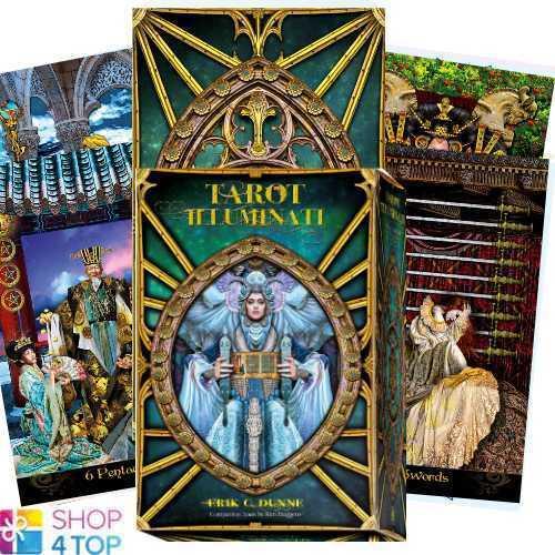 TAROT ILLUMINATI DECK CARDS BOOK SET ESOTERIC FORTUNE TELLING LO SCARABEO NEW