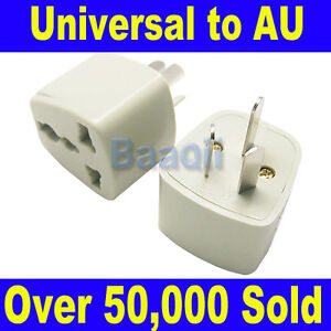UK/US/EU Universal to AU AC Power Plug Adapter Travel 3 pin Converter Australia