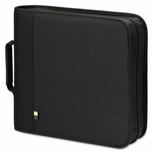 Case Logic CD/DVD Expandable Binder, Holds 208 Discs, Black  (CLG3200387)