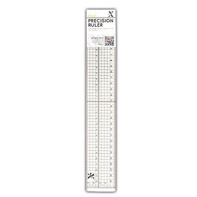 Ruler Docrafts 30cm Precision measuring tool Ruler Metal Edge Inlay XCU 255301
