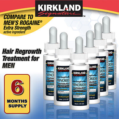 6 Months Kirkland Drops Generic Minoxidil 5  Mens Hair Loss Regrowth Treatment