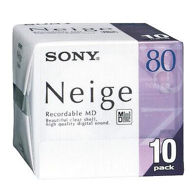 SONY Neige Series MiniDisk 80 Minutes Pack 10