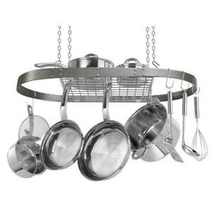 Range Kleen CW6016 Pot Rack Oval Hammered Grey NEW IN BOX