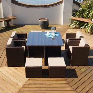 RATTAN-GARDEN-FURNITURE-SET-PERSON-OUTDOOR-PATIO-DINING-WICKER-TABLE-4-6-CUBE