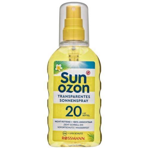 Sun Ozon transparentes Sonnenspray Sonnenmilch Sonnencreme 200ml LSF20