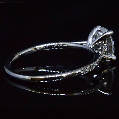 Charming 1.25 Ct Pave Nice Oval Cut Diamond Engagement Ring G,VVS1 GIA 18K WG  1