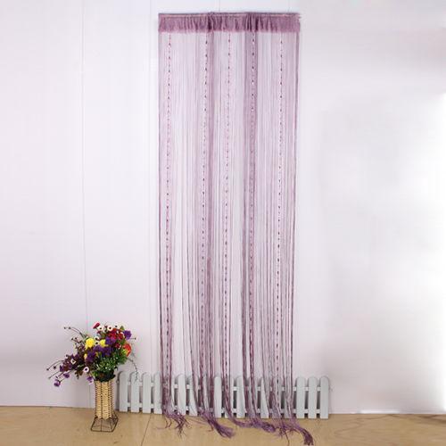 purple beaded curtain ebay. Black Bedroom Furniture Sets. Home Design Ideas