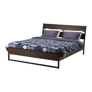 Queen Size Bed (IKEA) + Mattress + Dresser + Night stand