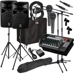 Yamaha STAGEPAS 600i Portable PA System COMPLETE AUDIO BUNDLE