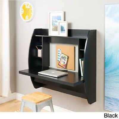 Black Desk Wall Hanging Computer Table Float Work Station Space Saver Standing  (Standing Wall Desk)
