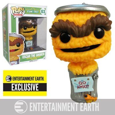 Sesame Street Oscar Grouch Orange Debut Funko Pop Vinyl EE Exc.