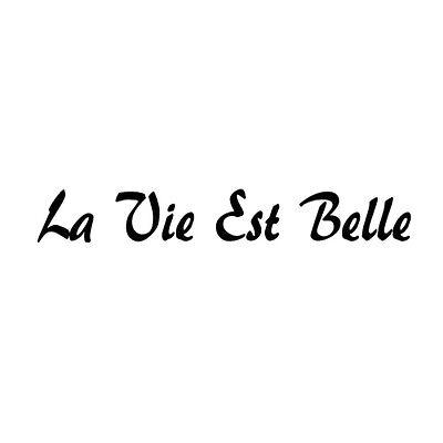 La Vie Est Belle French Life Is Beautiful laptop Car Window Wall decal sticker