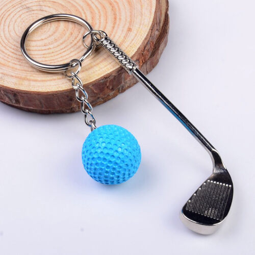 Classic Sports Silver Golf Clubs Keychain Keyring Key Chain Ring Gift White &l 7