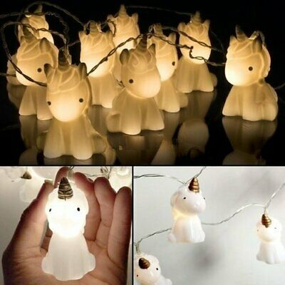 10 Cute Unicorn LED String Lights 1.5M Battery Powered Indoor/Outdoor Decoration](Cute String Lights)