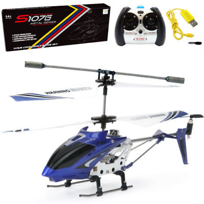 Syma S107 S107G Remote Control RC Helicopter Alloy Copter with Gyro Blue for sale  USA