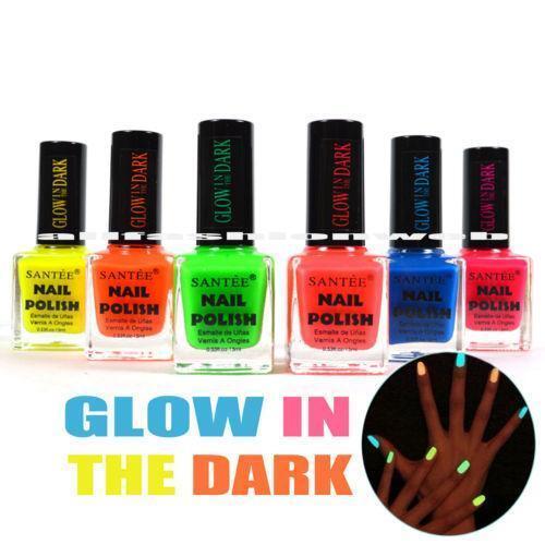 Glow In The Dark Nail Polish Set