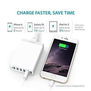 Anker 60W 6-Port Family-Sized Desktop USB Charger with PowerIQ T West Island Greater Montréal image 2
