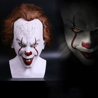 US SHIP Stephen King's It Mask Pennywise Clown Mask Halloween Cosplay Costume - It Clown Halloween Mask