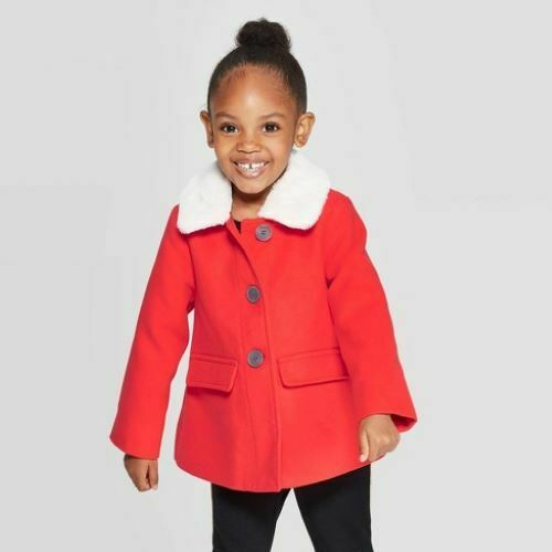 Toddler Girls' Fashion Jacket – Cat & Jack Red 18M Baby