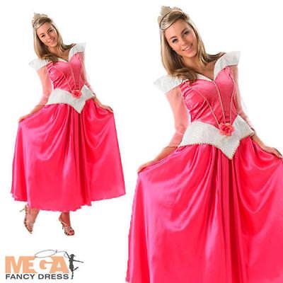 Sleeping Beauty Ladies Fairytale Princess Fancy Dress Womens Costume Outfit 8-18 (Sleeping Beauty Fancy Dress Kostüme)