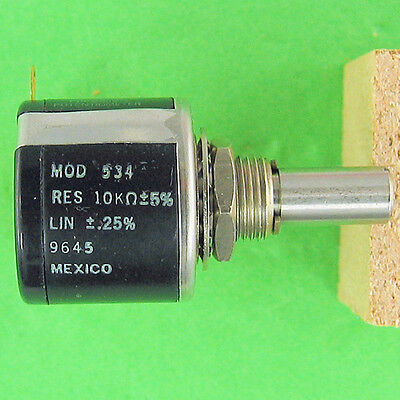 Precision Potentiometer 10k Ohm 5 10turn Superior Stop Strength Rugged Spectrol