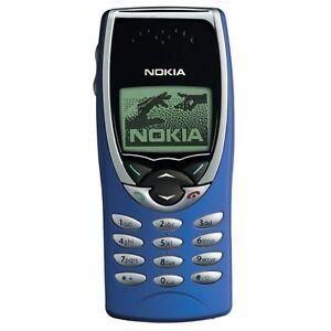 100-ORIGINALE-NOKIA-8210-cover-frontale-A-COVER-Cellulare-Custodia-Blu