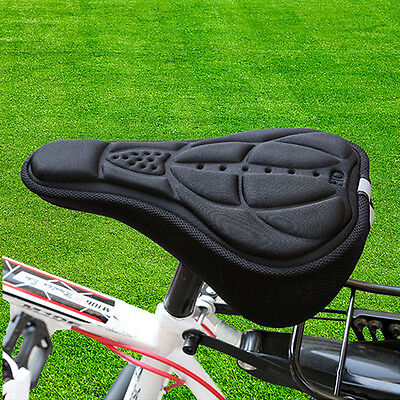 Cycling Bike Saddle Cushion Pad Sponge Seat Cover Bicycle Soft Thick Black