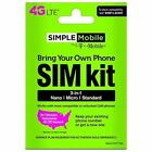 SIMPLE Mobile SIMPLE Mobile Triple Cut Cell Phone SIM Cards