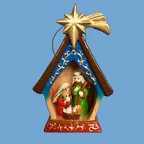 Holy Family Nativity with Star of Bethlehem Porcelain Ornament - J0944