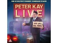 Peter Kay Live Tour - 4 x Tickets (Leeds First Direct Arena) Friday 17th May 2019