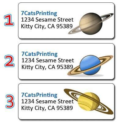 30 Custom Return Address Labels Planet Saturn Rings Space Solar System Nasa