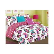 Twin Girls Owl Bedding
