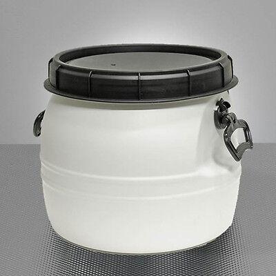 Maischefass 30 Liter weiß Deckel & Griffen Maische-Faß Lebensmittelecht Griffe L